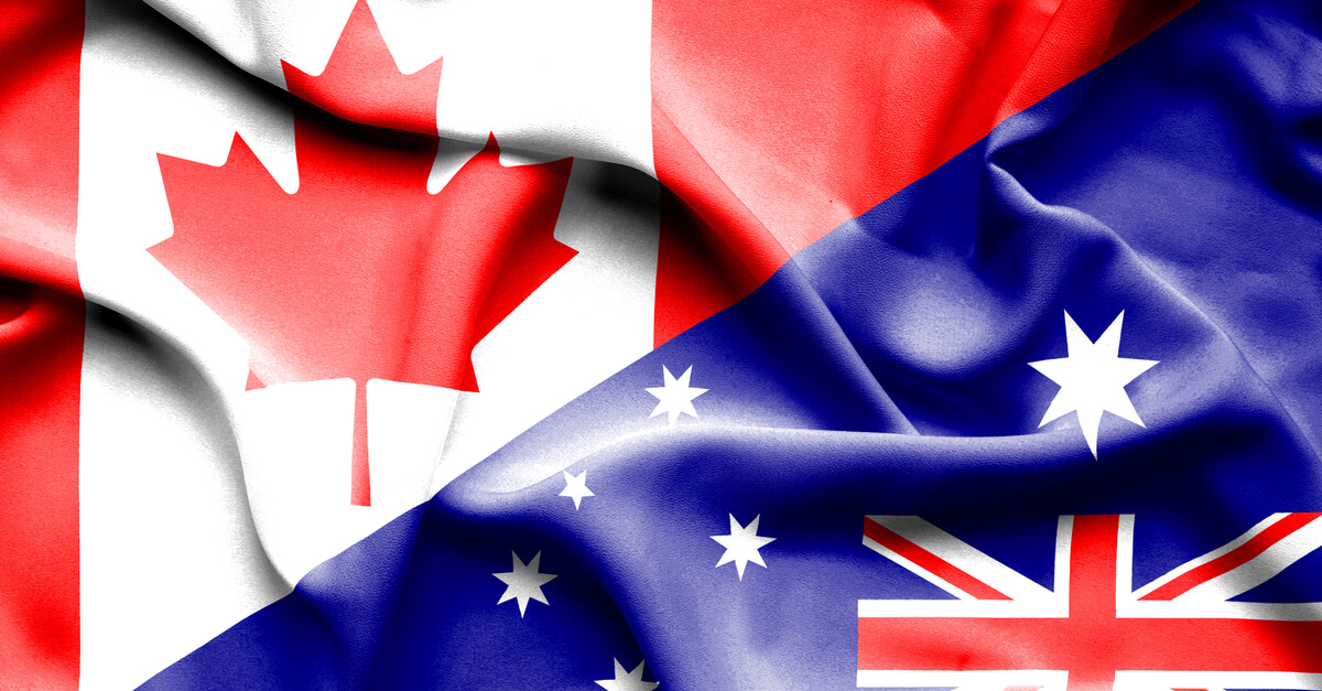 Canada and Australia flag